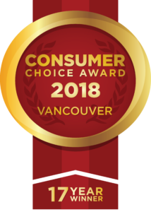 Consumer Choice Award 2018 Vancouver 17 Year Winner